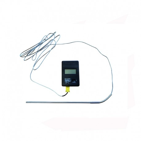 KIT THERMOMETRE NUMERIQUE SONDE TYPE K 1250°C + CORDON 3 M