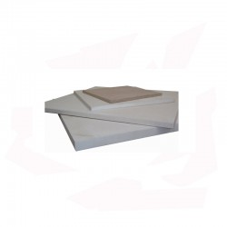 PLAQUE REFRACT. BENJ3G 400 X 370 X 13 MM 1340°C