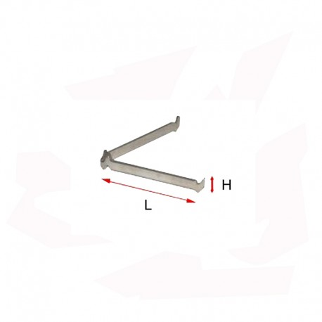 SUPPORT REFRAC. METAL PLAT Diam. 25 mm 1200°