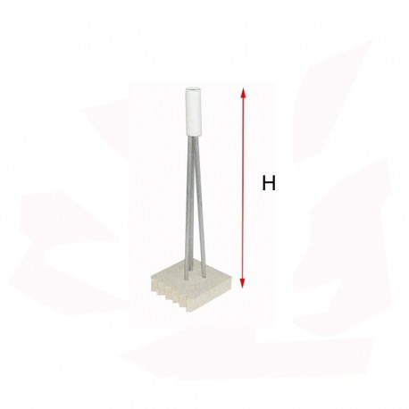 SUPPORT POUR PIECE CREUSE H150 MM 1200°C