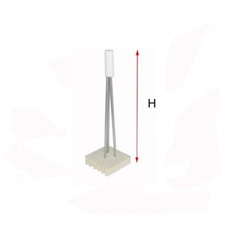 SUPPORT POUR PIECE CREUSE H250 MM 1200°C