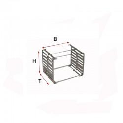 SUPPORT MULTIPLE POUR PERLE 6 BARRES H100 P60 MM 1200°C