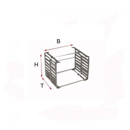 SUPPORT MULTIPLE POUR PERLE 6 BARRES H80 P80 MM 1200°C