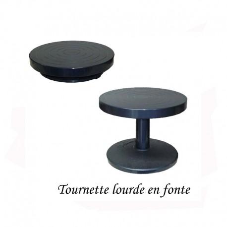 TOURNETTE DE TABLE LOURDE Diam  22 cm H5.5cm
