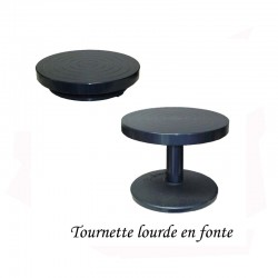 TOURNETTE DE TABLE LOURDE Diam 25 H 11cm