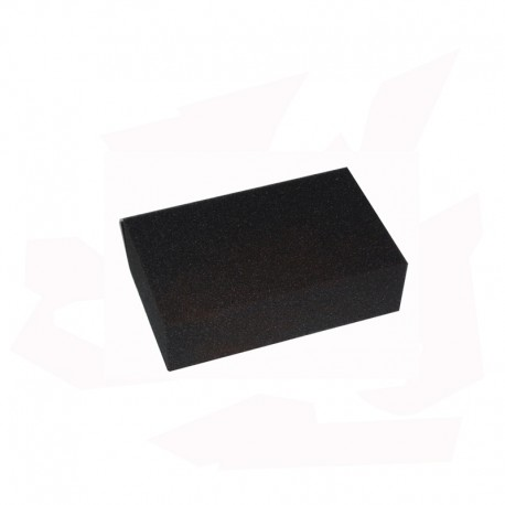 EPONGE RECTANGULAIRE 135X90X38 mm NOIR GRAIN FIN
