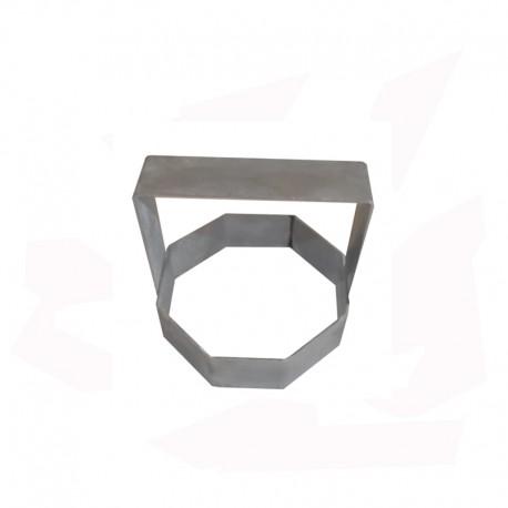 EMPORTE PIECE INOX OCTOGONAL DIAM 120 MM