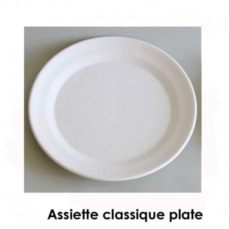 BISCUIT FAIENCE ASSIETTE CLASSIQUE PLATE N°4 DIAM 320 MM