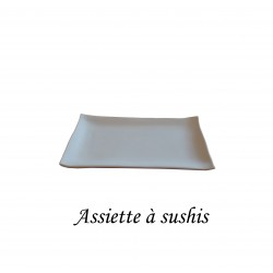 BISCUIT FAIENCE ASSIETTE SUSHIS 260*140 MM