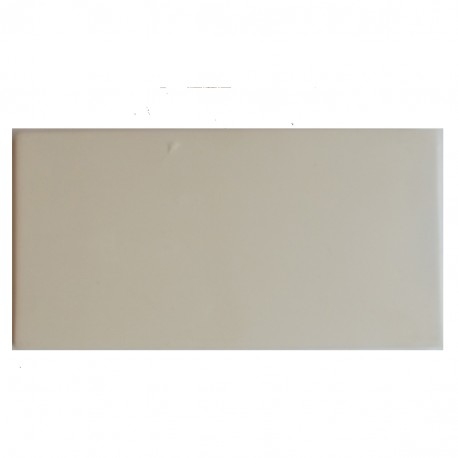 BISCUIT CARREAU FAIENCE BLANCHE-CREME 150*75*6.5 MM