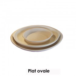 BISCUIT FAIENCE PLAT A GRATIN OVALE PM 230*145 MM