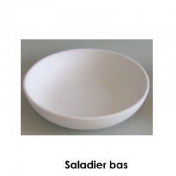 BISCUIT FAIENCE SALADIER BAS N°4 DIAM 320*70 MM