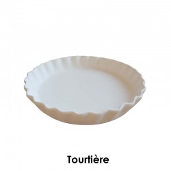 BISCUIT FAIENCE TOURTIERE N° 2 DIAM 300 MM