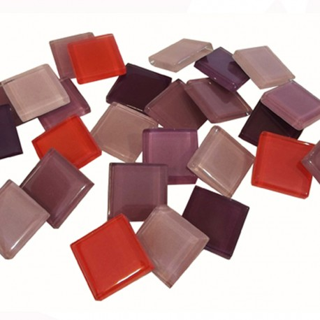 MOSAIQUE BACCARA 20X20mm PANACHE AMETHYSTE