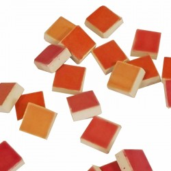 MOSAIQUE EMAILLEE10*10 PANAC ROUGE/ORANGE