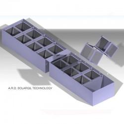Double cuve en inox de décantation 5000x1000x650mm