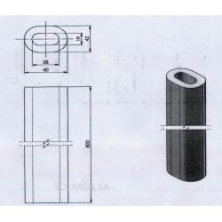 TUBULAR OVAL PROPS H 100 mm Diam.60*42 mm 1350°C