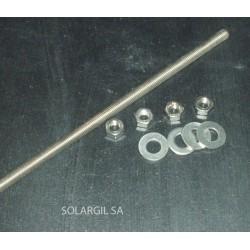 TIGE INOX REFRACT. L 1000 X Ø 6 MM