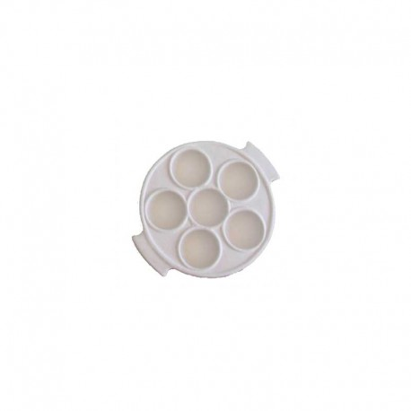 BISCUIT FAIENCE PLAT 6 ESCARGOTS DIAM. 150 x 30 MM